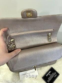 1000% AUTHENTIC! RARE! Chanel Classic Medium Rose Gold Goatskin HW Flap Bag