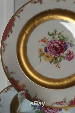 10pc vintage German Rosenthal selb Bavaria Plates Queen Rose Pink 10.25dim Rare