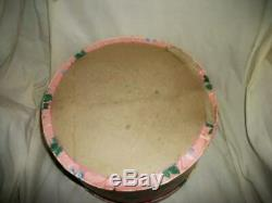 1940's HAT BOX ROSES WALLPAPER SET 3 SHADES OF PINK RARE COTTAGE SHABBY CHIC