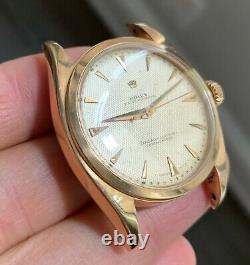 1950's Rare Vintage Rolex 18K ROSE GOLD big Bubble ref. 6088