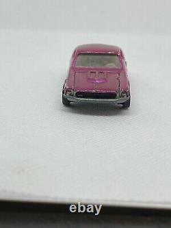 1968 Hot Wheels Redline Custom Mustang RARE PINKISH US ROSE ALL ORIGINAL Rare