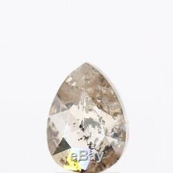 1.95 Carat Rare Natural Salt and Pepper Diamond Pear Rose Cut Loose Diamond