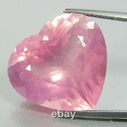 21.39Ct Glorious Natural Pink Color Rose Quartz Heart Shape Rare Collection VDO