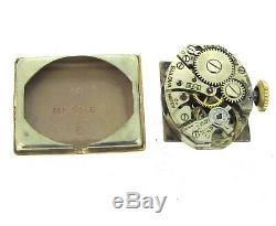 60 ct tw Diamonds BULOVA 14k Rose Gold Hand Winding Ruby Vintage RARE Watch