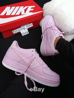 6Y 8 Womens Nike AF1 Air Force 1 LOW ROSE BABY PINK CASUAL SNEAKERS RARE