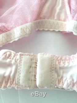 AGENT PROVOCATEUR SUKI Heart Bra RARE M Pink Velvet Rose Bow $150 NWT