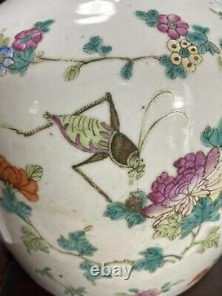 A Rare Antique Chinese Famille Rose Porcelain Jar 19th C