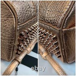 Alexander Wang Large Rocco Leather Satchel Bag Rose Gold Rare NWTS MSRP $1195