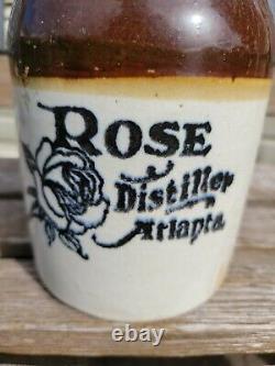 Antique Rose Distiller Atlanta Georgia Jug Rare Estate Find Pottery