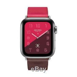 Apple Watch Hermes 40mm Single Tour Bordeaux Rose Extreme Rose Azalee New RARE