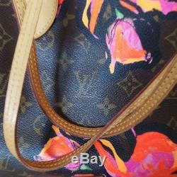 Authentic Louis Vuitton Stephen Sprouse Monogram rose Never full MM Handbag rare