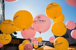 Authentic Veuve Clicquot VCP Signature ROSE BALLOONS Decoration Awesome RARE
