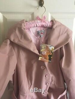 BNWT Miss Candyfloss swing trench coat Lorin rare pink old rose 3XL