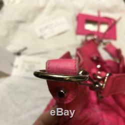 Balenciaga F/W 2011 Coquellicot Rose Pink Rare Color The City With Shoulder Strap