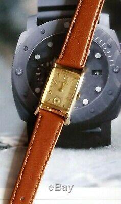 Beautiful Rare BULOVA USA Tank Style 21 Jewels 7AK Mvmnt Men's Wrist Watch