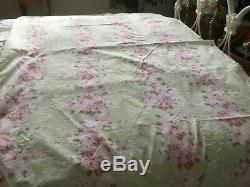 Beautiful Rare Rachel Ashwell Shabby Chic Couture Pink Roses Duvet Cover