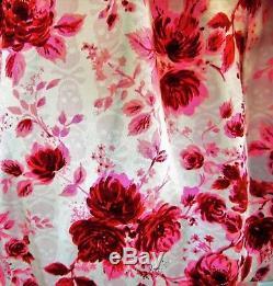 Betsey Johnson RARE Dress PINK SKULL Floral ROSE Silk Tunic Evening Party 8 M
