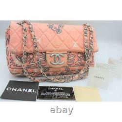 CHANEL Chain Shoulder Bag Bandana Pattern Rose Pink Rare