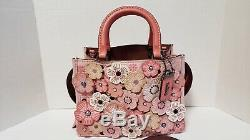 COACH 1941 Rogue 25 Tea Rose pink jeweled 67690 sakura RARE Japan exclusive EUC