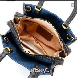 COACH Rogue 25 With Tea Rose Rivets Hand Shoulder Bag JAPAN LIMITED Rare F/S