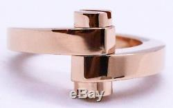 Cartier 18 Karat Rose Pink Gold Ring Menotte Model 50 Brand New In Box Rare