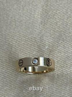 Cartier Love Ring K18 Pink Gold Rose Gold Diamond No. 3.5-4 Genuine Rare F/S