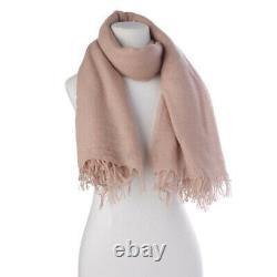 Chan Luu Soft Cashmere and Silk Scarf Wrap Solid ADOBE ROSE BRH-SC-140 RARE
