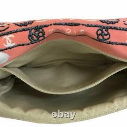 Chanel Bandana Pattern Chain Shoulder Bag Rare Design Rose Pink Cotton Ex++