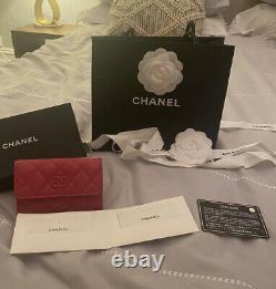 Chanel Card Holder Full Set Spring/Summer 2020 Rose Fonce Rare