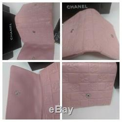 Chanel Pink Wallet Lucky Precious Symbols Embossed Quilted Lambskin Leather RARE