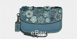 Coach 1941 Rogue 25 Tea Rose Chambray BLUE bag 58840 & Wristlet 23536 RARE SET