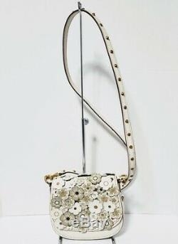 Coach 1941 Tea Rose 17 Leather Chalk saddle crossbody bag 58121 VERY RARE