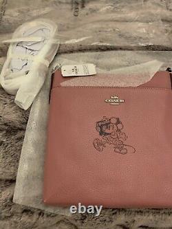 Coach Disney Minnie Mouse Bag And Coin Purse Set Rare Rose