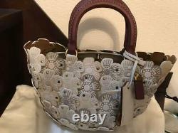 Coach Tea Rose Basket Hand Bag White World Only 100 Very Rare