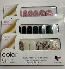 Color Street Rose Path, Positively Pink, Scot Topic UNICORN Bundle New Rare