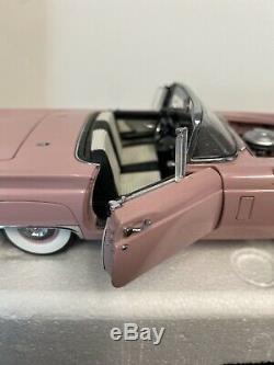 Danbury Mint 1957 Ford Thunderbird Convertible L. E. #216 Dusk Rose Rare