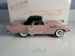 Danbury Mint 1957 Ford Thunderbird Convertible L. E. Rare Dusk Rose