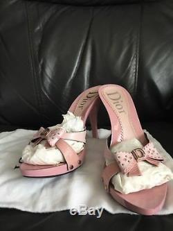 Dior D Mule 10cm Rose Pink Sandal Shoe UK 6 EU 39 Brand New (Scratched) Box Rare
