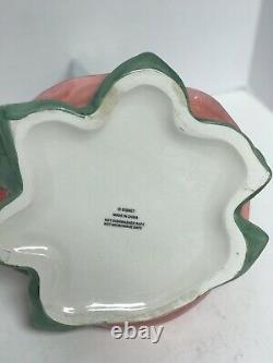 Disney RARE Tinkerbell on Rose Figurine Ceramic Cookie Jar