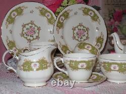 Duchess Teapot Pink Roses, Cups, Saucers, Plates Rare 15 piece tea set England