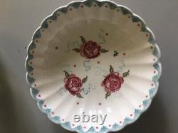 Emma Bridgewater Large Fluted Serving Bowl Rose and Bee Discontinued and Rare