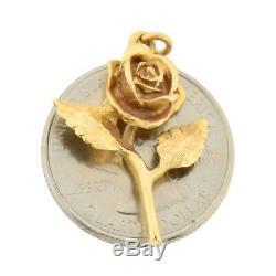 Estate 14k Gold RARE James Avery Rose Flower Vintage Charm for Bracelet