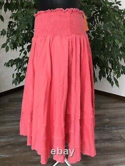 Ewa I Walla Rock Crisp Cotton Skirt 22746 Rose Pink Tine Ethnic Rare