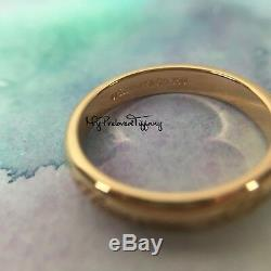 Excellent Rare Authentic Tiffany & Co. Notes Ring I Love You Pink Rose Gold 750