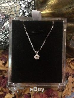 Exceptionally rare light Pink Argyle Diamond 2mm sterling silver Rose pendant