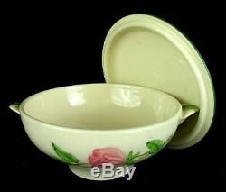 FRANCISCAN DESERT ROSE CREAM SOUP with COVER MADE IN USA RARE