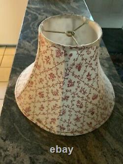Fabulous Rare Pierre Deux Large Lampshade, Tulip, Rose&ivory