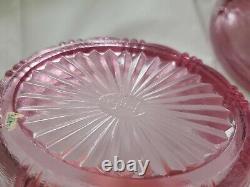 Fenton Art Glass Dusty Rose Covered Chicken / Hen On Nest rare