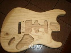 Franky Strat Body Ash Van Halen Floyd Rose Guitar Body Rare Light Weight Ash