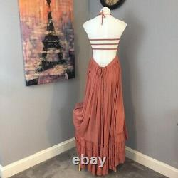 Free People Rare Extra Tropical Wood Rose Medium Queen Vacation Dress